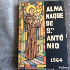 Libros de segunda mano: ALMANAQUE SANTO ANTÓNIO, 1964. ENVIO GRÁTIS.. Lote 194859186