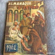 Libros de segunda mano: ALMANAQUE DE SANTO ANTÓNIO, 1962. ENVIO GRÁTIS.. Lote 194859782