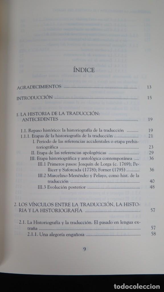 Libros de segunda mano: LA HISTORIA, LA TRADUCCION Y EL CONTROL DEL PASADO. SAMUEL LOPEZ ALCALA - Foto 2 - 194862462