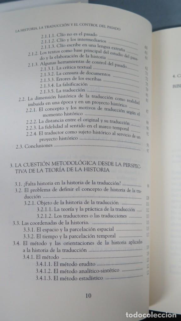 Libros de segunda mano: LA HISTORIA, LA TRADUCCION Y EL CONTROL DEL PASADO. SAMUEL LOPEZ ALCALA - Foto 3 - 194862462