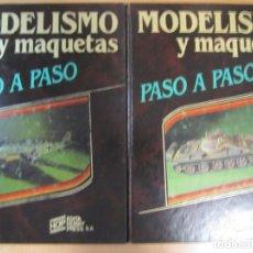 Libros de segunda mano: LOTE 2 TOMOS Nº1Y2 MODELISMO Y MAQUETAS PASO A PASO HOBBY PRESS. Lote 194864492