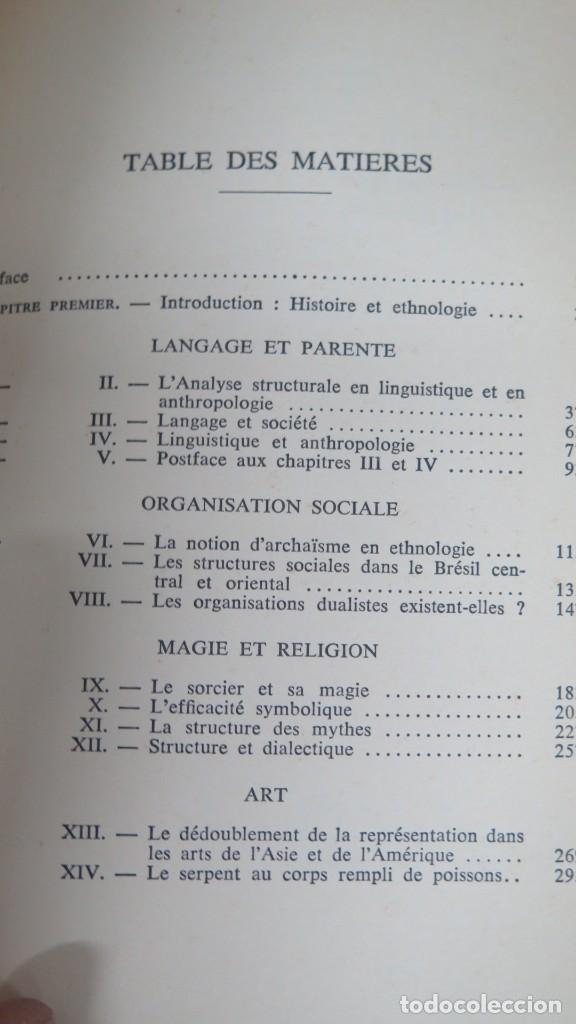 Libros de segunda mano: ANTHROPOLOGIE STRUCTURALE. LEVI-STRAUSS - Foto 2 - 194867740
