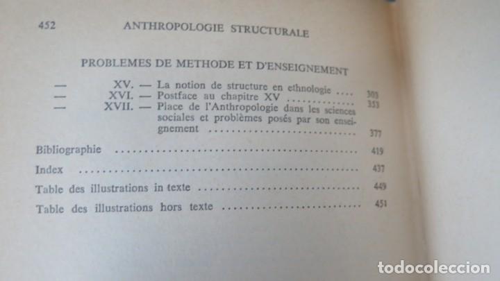 Libros de segunda mano: ANTHROPOLOGIE STRUCTURALE. LEVI-STRAUSS - Foto 3 - 194867740
