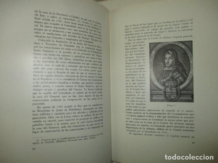 Libros de segunda mano: LA LONJA DEL MAR Y LOS CUERPOS DE COMERCIO DE BARCELONA. CARRERA PUJAL, Jaime. 1953. - Foto 2 - 194878236
