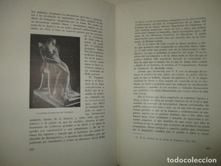 Libros de segunda mano: LA LONJA DEL MAR Y LOS CUERPOS DE COMERCIO DE BARCELONA. CARRERA PUJAL, Jaime. 1953. - Foto 4 - 194878236
