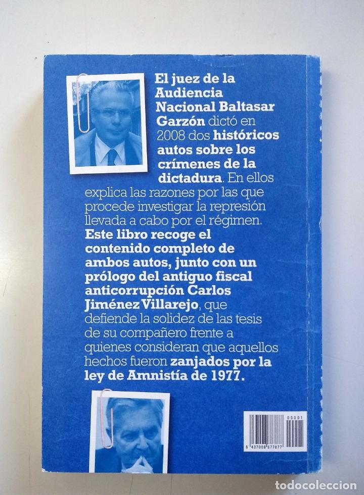 Libros de segunda mano: GARZÓN CONTRA EL FRANQUISMO | VV.AA. | PÚBLICO 2010 - Foto 5 - 194883760