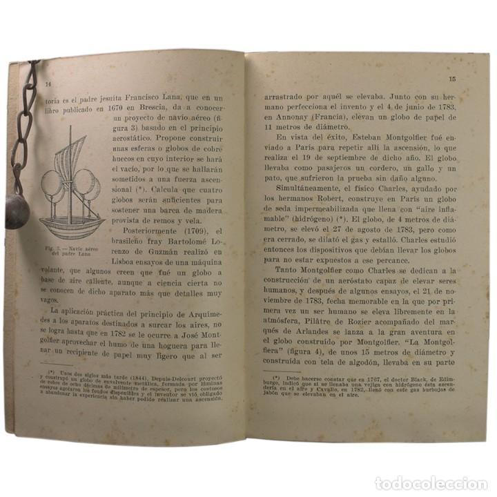 Libros de segunda mano: LIBRO ANTIGUO. GLOBOS y DIRIGIBLES. JUAN J. MALUQUER. 1942 - Foto 3 - 194884495