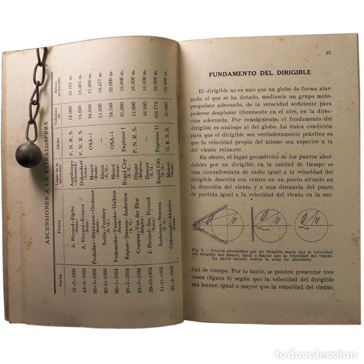 Libros de segunda mano: LIBRO ANTIGUO. GLOBOS y DIRIGIBLES. JUAN J. MALUQUER. 1942 - Foto 6 - 194884495
