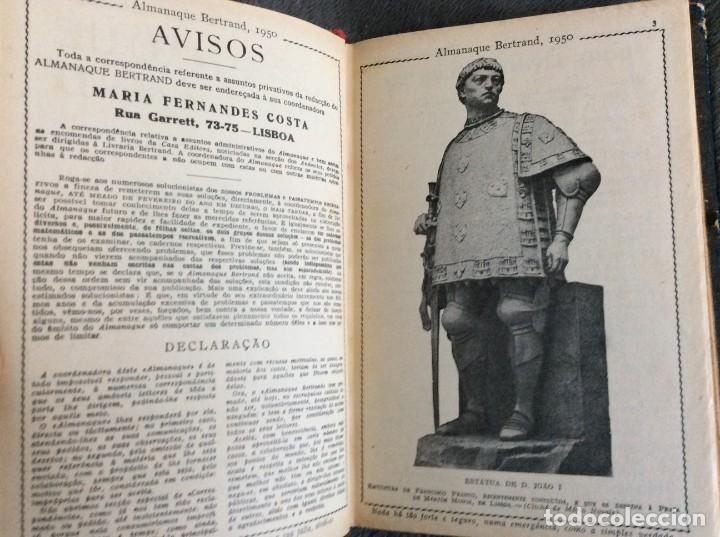 Libros de segunda mano: Almanaque Bertrand, 1950. Envio grátis. - Foto 3 - 194884753