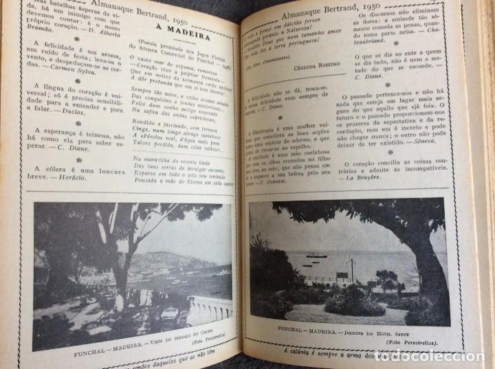 Libros de segunda mano: Almanaque Bertrand, 1950. Envio grátis. - Foto 4 - 194884753