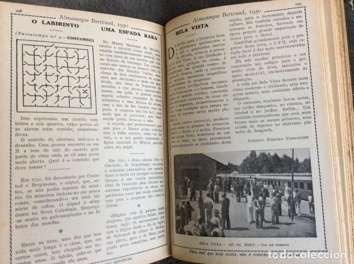 Libros de segunda mano: Almanaque Bertrand, 1950. Envio grátis. - Foto 5 - 194884753