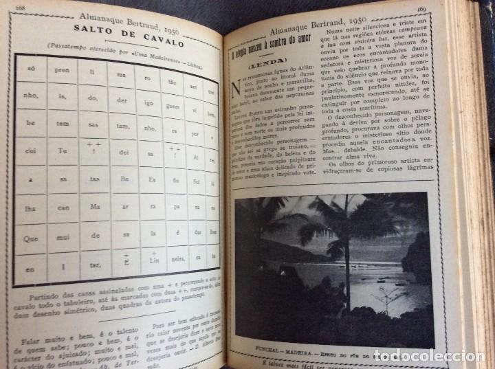 Libros de segunda mano: Almanaque Bertrand, 1950. Envio grátis. - Foto 10 - 194884753