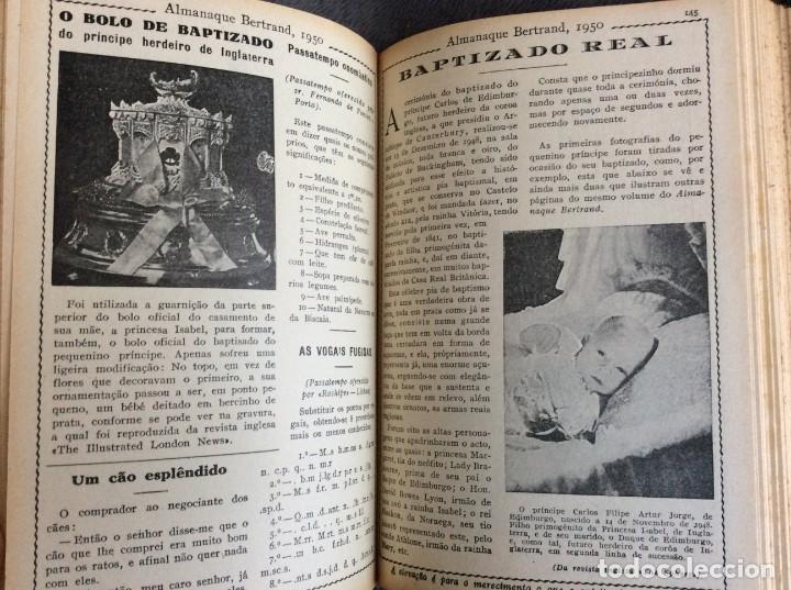 Libros de segunda mano: Almanaque Bertrand, 1950. Envio grátis. - Foto 11 - 194884753