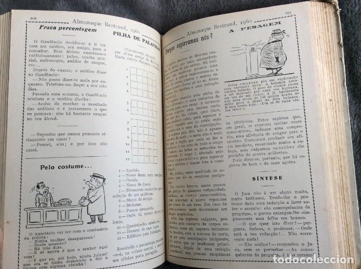 Libros de segunda mano: Almanaque Bertrand, 1960. Envio grátis. - Foto 4 - 194885408