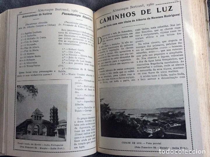 Libros de segunda mano: Almanaque Bertrand, 1960. Envio grátis. - Foto 5 - 194885408