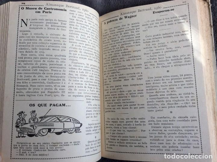 Libros de segunda mano: Almanaque Bertrand, 1960. Envio grátis. - Foto 7 - 194885408
