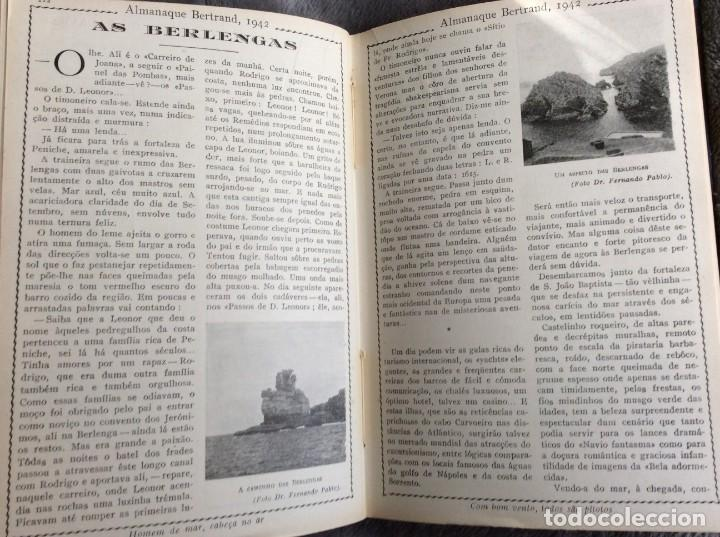 Libros de segunda mano: Almanaque Bertrand, 1942. Envio grátis. - Foto 7 - 194885925