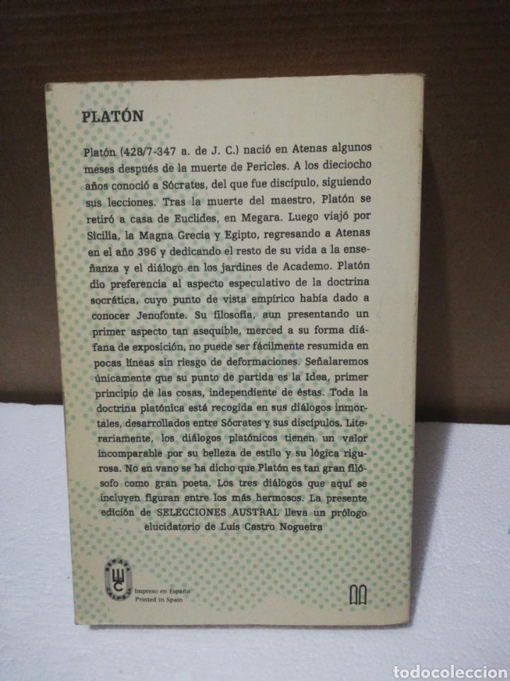 Libros de segunda mano: Diálogos ,Platón .Editorial austral - Foto 2 - 194888990