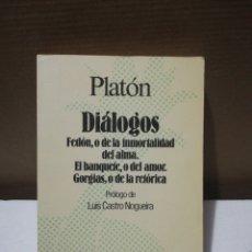 Libros de segunda mano: DIÁLOGOS ,PLATÓN .EDITORIAL AUSTRAL. Lote 194888990