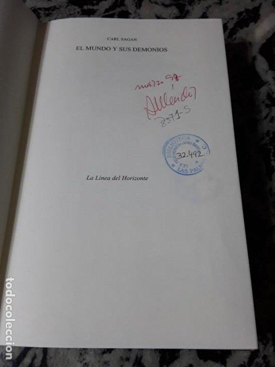Libros de segunda mano: El mundo y sus demonios, de Carl Sagan. Tapa dura. Planeta. Ciencia. - Foto 3 - 194892706