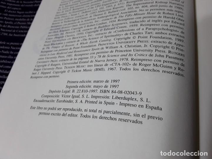 Libros de segunda mano: El mundo y sus demonios, de Carl Sagan. Tapa dura. Planeta. Ciencia. - Foto 4 - 194892706