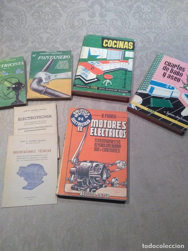 LOTE DE LIBROS FONTANERO,ELECTRICIDAD,MOTORES ELECTRICOS,ELECTROTECNIA AÑOS 40,50,60 POQUISIMO USO (Libros de Segunda Mano - Ciencias, Manuales y Oficios - Otros)