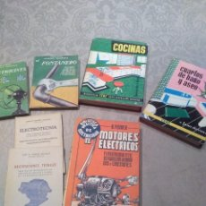 Libros de segunda mano: LOTE DE LIBROS FONTANERO,ELECTRICISTA,MOTORES ELECTRICOS,ELECTROTECNIA AÑOS 40,50,60 POQUISIMO USO. Lote 194895057