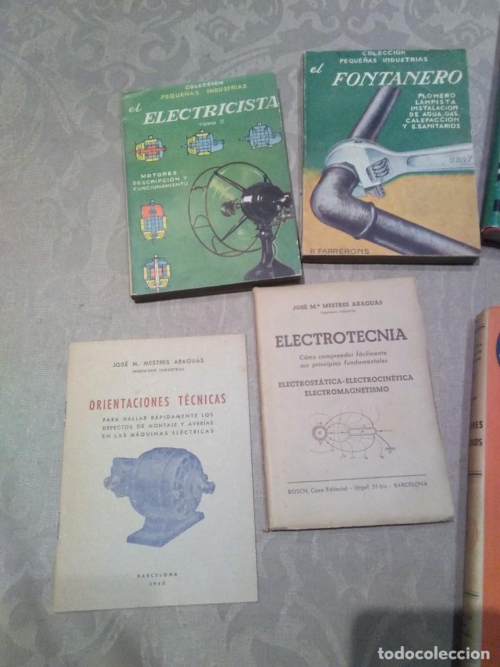 Libros de segunda mano: lote de libros fontanero,electricidad,motores electricos,electrotecnia años 40,50,60 poquisimo uso - Foto 2 - 194895057