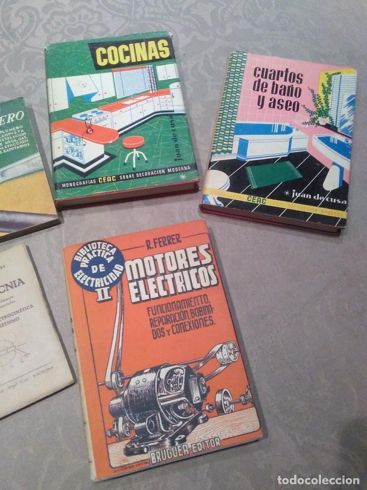 Libros de segunda mano: lote de libros fontanero,electricidad,motores electricos,electrotecnia años 40,50,60 poquisimo uso - Foto 3 - 194895057