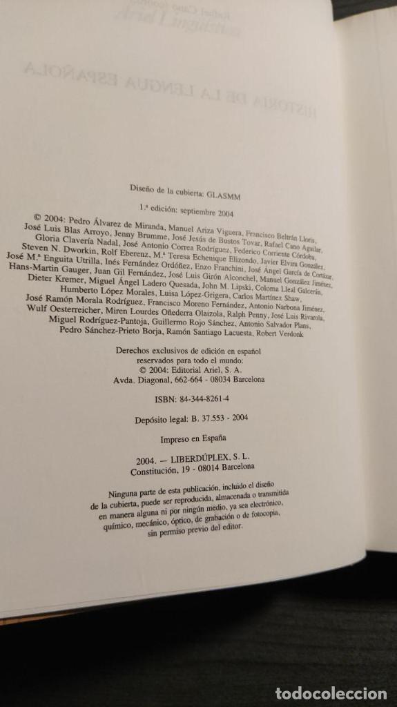 Libros de segunda mano: Historia de la lengua española Rafael Cano. Ariel - Foto 2 - 194897627