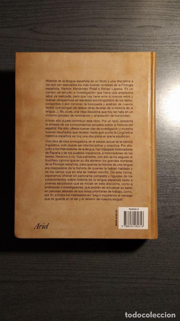 Libros de segunda mano: Historia de la lengua española Rafael Cano. Ariel - Foto 3 - 194897627