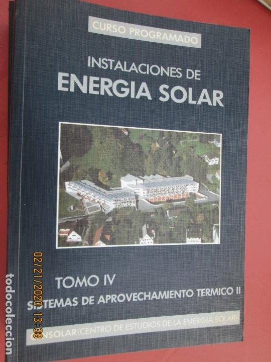 Libros de segunda mano: CURSO PROGRAMADO COMPLETO DE INSTALACIONES ENERGIA SOLAR 6 TOMOS - tercera edicion 2004 - Foto 4 - 194899012