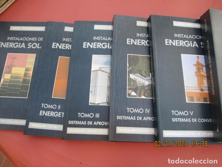 CURSO PROGRAMADO COMPLETO DE INSTALACIONES ENERGIA SOLAR 6 TOMOS - TERCERA EDICION 2004 (Libros de Segunda Mano - Ciencias, Manuales y Oficios - Otros)