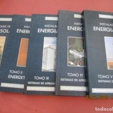 Libros de segunda mano: CURSO PROGRAMADO COMPLETO DE INSTALACIONES ENERGIA SOLAR 6 TOMOS - TERCERA EDICION 2004 . Lote 194899012