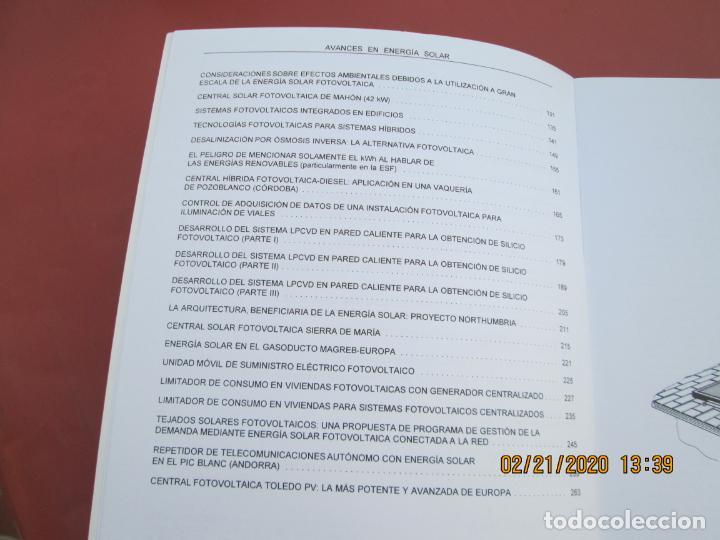 Libros de segunda mano: AVANCES EN ENERGIA SOLAR , RECOPILACION DE ARTICULOS TECNICOS PUBLICADOS EN ERA SOLAR- 1998 - Foto 2 - 194899272