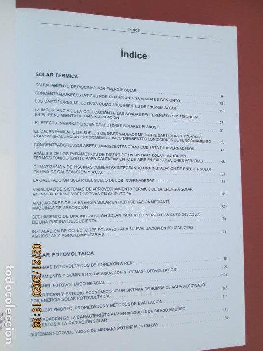 Libros de segunda mano: AVANCES EN ENERGIA SOLAR , RECOPILACION DE ARTICULOS TECNICOS PUBLICADOS EN ERA SOLAR- 1998 - Foto 3 - 194899272