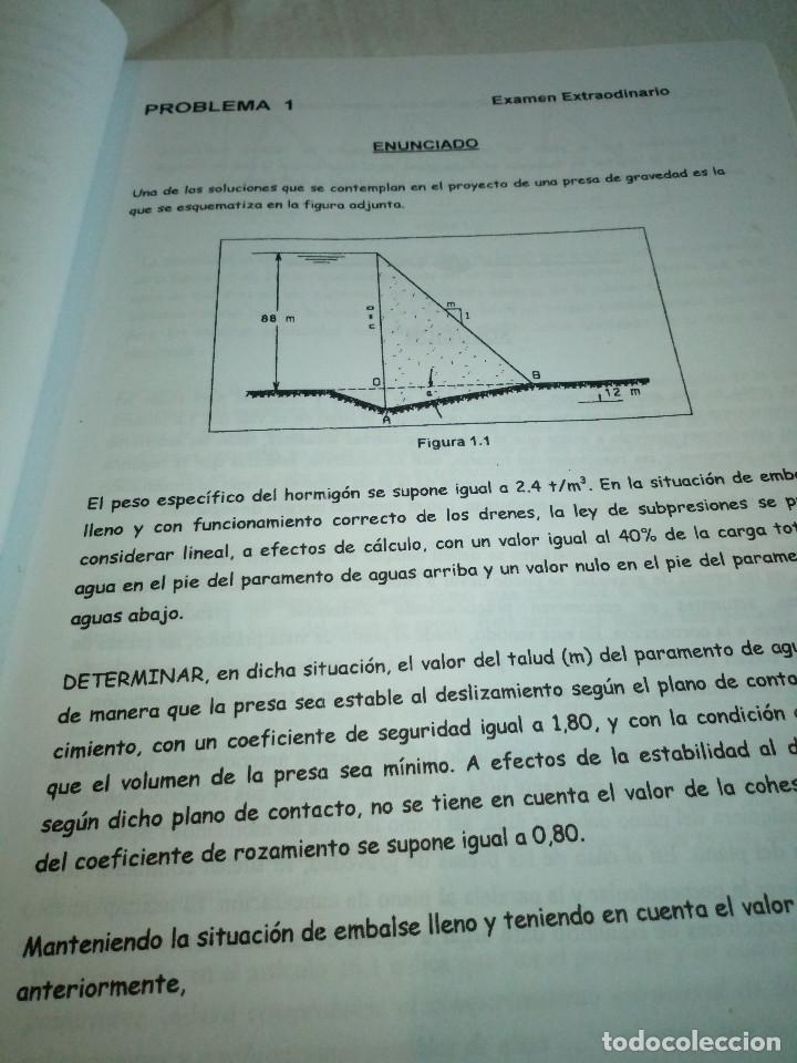 Libros de segunda mano: 9-OBRAS HIDRAULICAS, problemas de examen resueltos y explicados, Jose A. Sainz Borda, - Foto 4 - 194900273