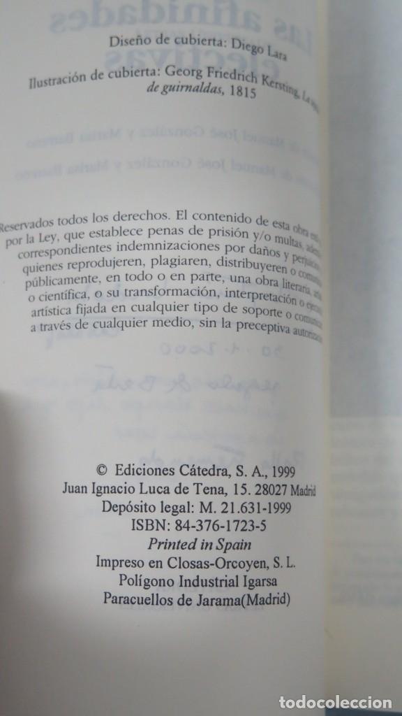 Libros de segunda mano: LAS AFINIDADES ELECTIVAS. GOETHE - Foto 2 - 194900745
