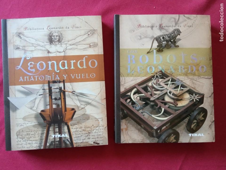 LOS ROBOTS DE LEONARDO/ANATOMIA Y VUELO.BIBLIOTECA LEONARDO DA VINCI.2 TOMOS. (Libros de Segunda Mano - Bellas artes, ocio y coleccionismo - Otros)