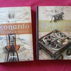 Libros de segunda mano: LOS ROBOTS DE LEONARDO/ANATOMIA Y VUELO.BIBLIOTECA LEONARDO DA VINCI.2 TOMOS.. Lote 194901206