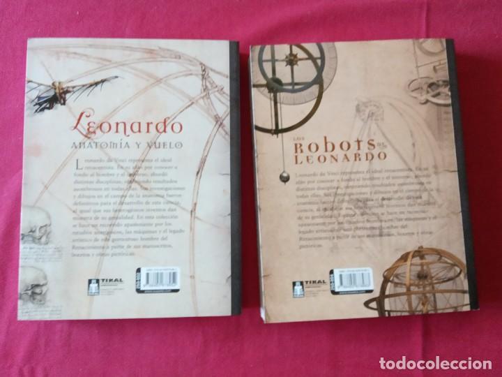 Libros de segunda mano: LOS ROBOTS DE LEONARDO/ANATOMIA Y VUELO.BIBLIOTECA LEONARDO DA VINCI.2 TOMOS. - Foto 3 - 194901206