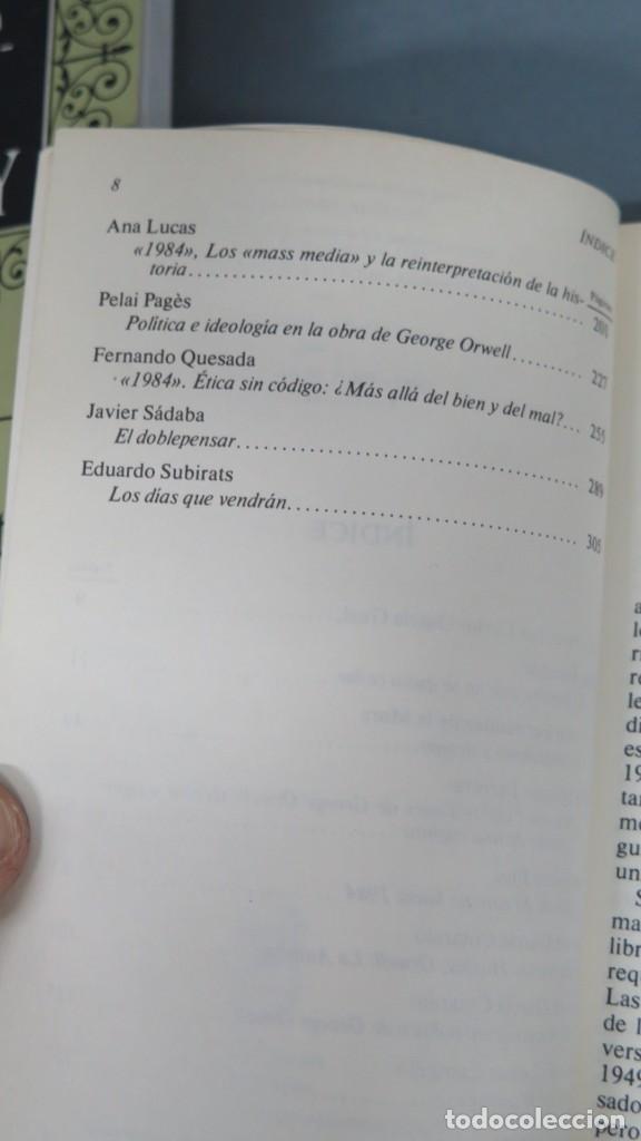Libros de segunda mano: ORWELL: 1984. REFLEXIONES DESDE 1984 - Foto 3 - 194901453