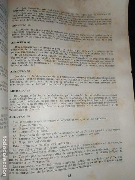 Libros de segunda mano: BOLETÍN DEL ILUSTRE COLEGIO DE ABOGADOS DE VALENCIA N° 14 JUNIO 1957 ÚNICO? - Foto 7 - 194901470