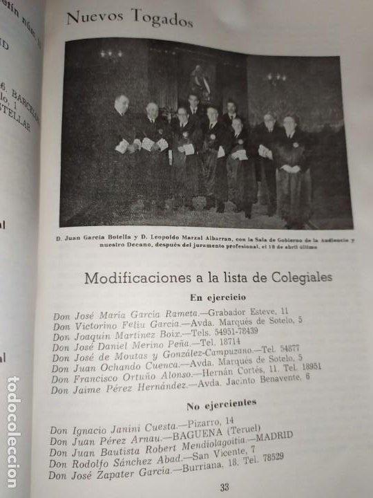 Libros de segunda mano: BOLETÍN DEL ILUSTRE COLEGIO DE ABOGADOS DE VALENCIA N° 14 JUNIO 1957 ÚNICO? - Foto 11 - 194901470