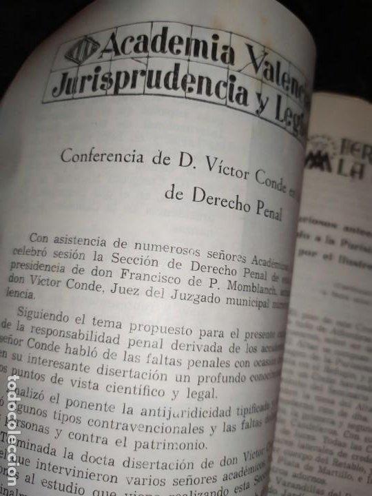 Libros de segunda mano: BOLETÍN DEL ILUSTRE COLEGIO DE ABOGADOS DE VALENCIA N° 14 JUNIO 1957 ÚNICO? - Foto 13 - 194901470