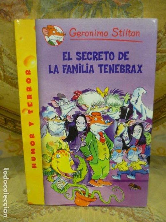 COLECCIÓN HUMOR Y TERROR: EL SECRETO DE LA FAMILIA TENEBRAX, DE GERONIMO STILTON. (Libros de Segunda Mano - Literatura Infantil y Juvenil - Otros)