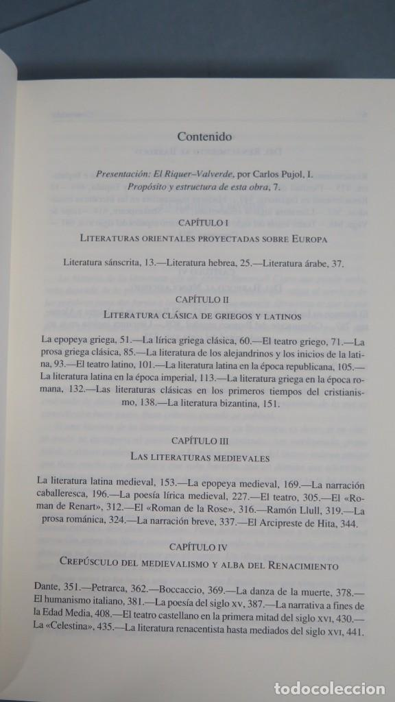 Libros de segunda mano: HISTORIA DE LA LITERATURA UNIVERSAL. MARTIN DE RIQUER. JOSE MARIA VALVERDE. 2 TOMOS. GREDOS - Foto 2 - 194903283