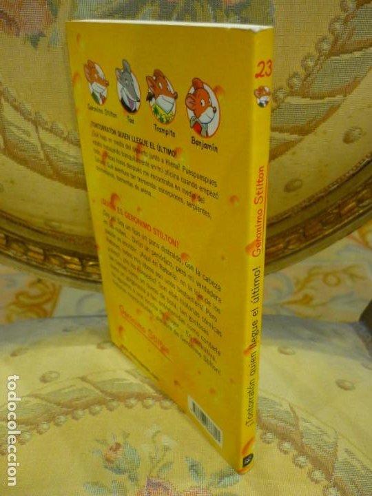 Libros de segunda mano: COLECCIÓN HUMOR Y AVENTURAS Nº 23: ¡TONTORRATÓN QUIEN LLEGUE EL ÚLTIMO!, DE GERONIMO STILTON. - Foto 2 - 194903313