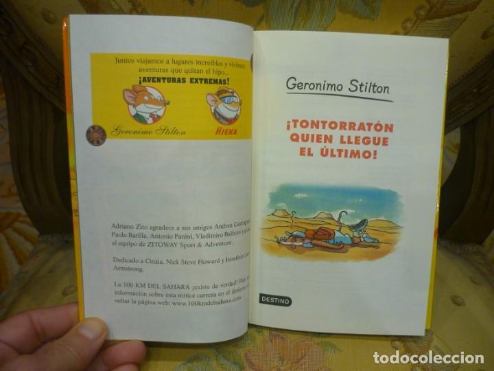 Libros de segunda mano: COLECCIÓN HUMOR Y AVENTURAS Nº 23: ¡TONTORRATÓN QUIEN LLEGUE EL ÚLTIMO!, DE GERONIMO STILTON. - Foto 3 - 194903313