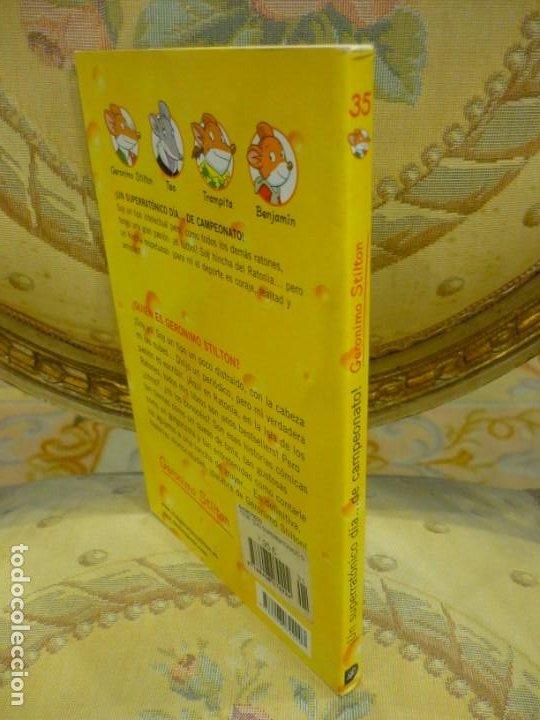 Libros de segunda mano: COLECCIÓN HUMOR Y MISTERIO Nº 35: ¡UN SUPERRATÓNICO DÍA...DE CAMPEONATO!, DE GERONIMO STILTON. - Foto 2 - 194903561